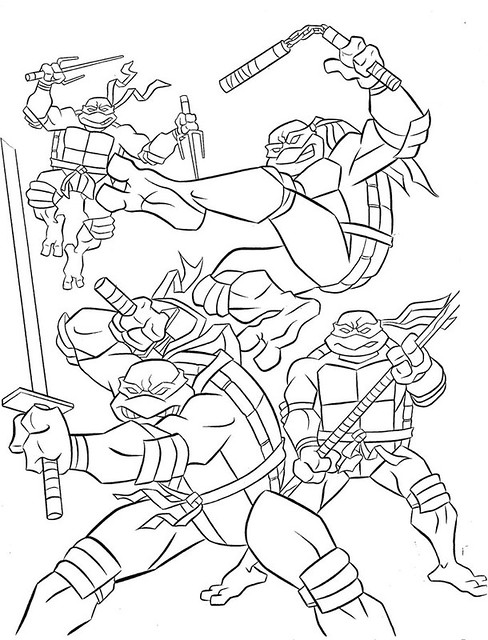 tmnt 2003 michelangelo coloring pages - photo#6