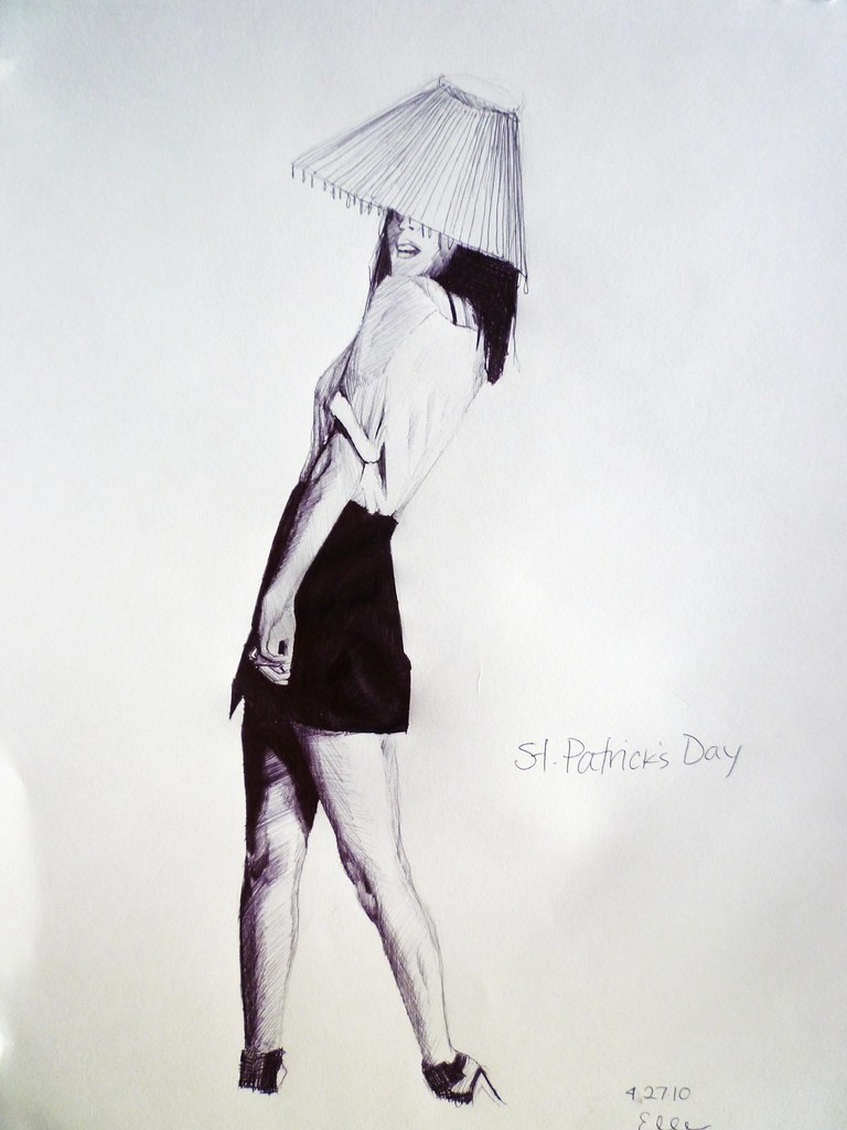 Lamp Shade On Head : Girl with lamp shade on head you know how st patrick s
