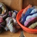 April's pound to spin: Yarn School scraps