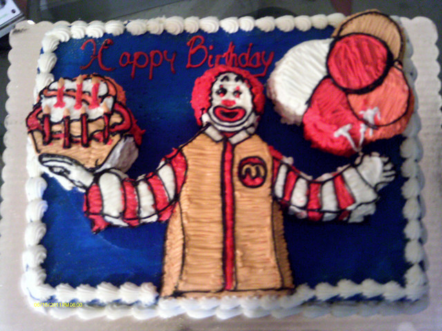 ronald mcdonald birthday cake Flickr - Photo Sharing!