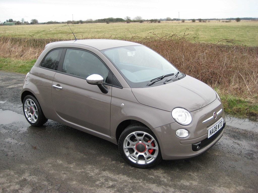 Fiat 500 Sport >> Our Punk Grey Fiat 500 1.4 sport in Northumberland | Flickr