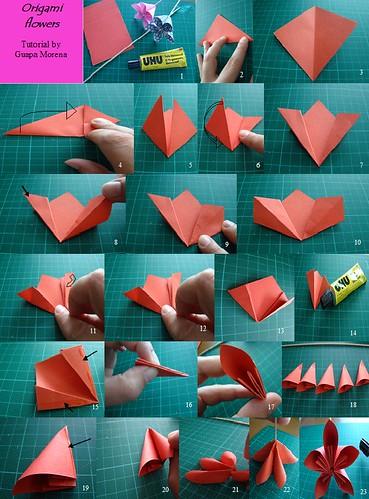 Tutorial flores de origami flickr photo sharing - Regalos originales para la casa ...
