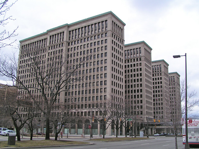Cadillac Place, Detroit, Michigan | When completed in 1920 ...