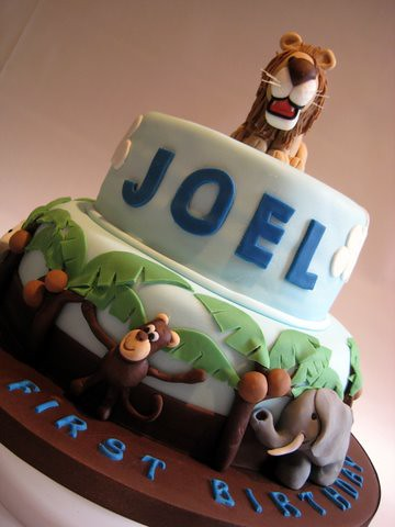 Joel S Jungle Cake 2 Tier Chocolate Chip Pound Cake
