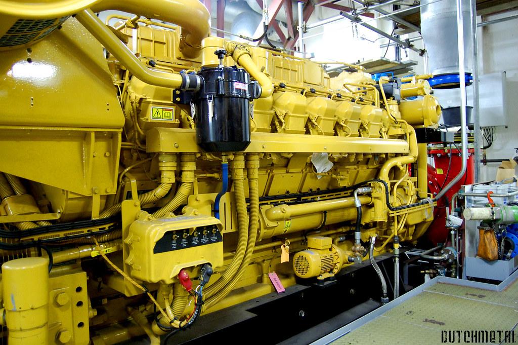 Caterpillar Diesel Ship Engine One Of The Four Caterpillar Flickr