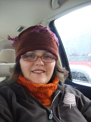 It's snowing...so I can wear my cowl! | by Sheepinthecity