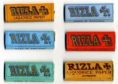 Rizla Hand Rolling cigarette paper packets  c 1970 | by sludgegulper