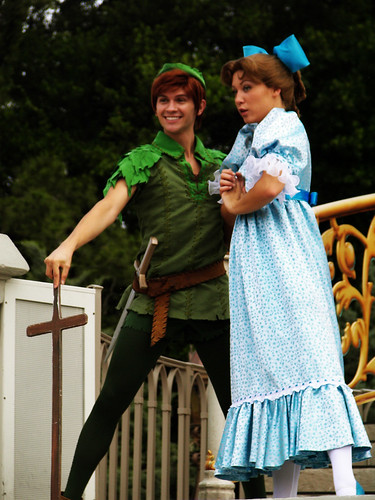 Peter Pan and Wendy at Disney World