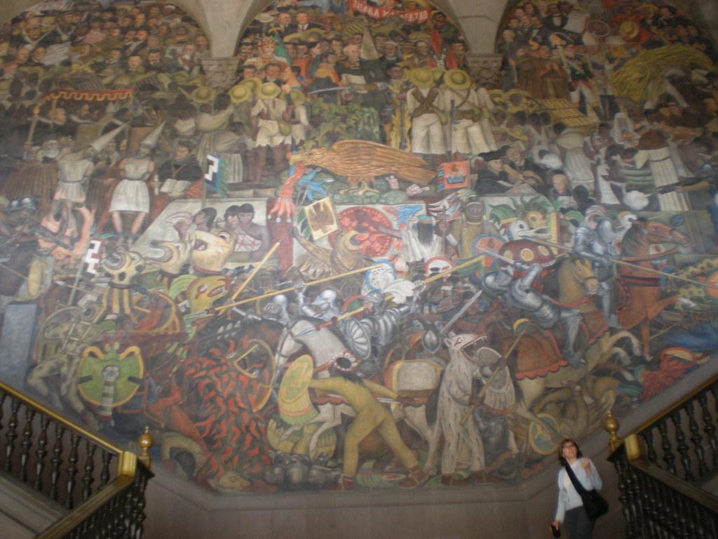 M xico a trav s de los siglos o epopeya del pueblo mexica for Diego rivera mural 1929