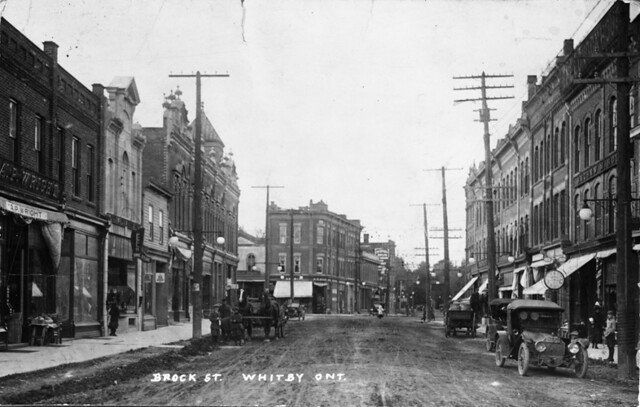 Postcard Of Brock Street Whitby Ontario Creator Name
