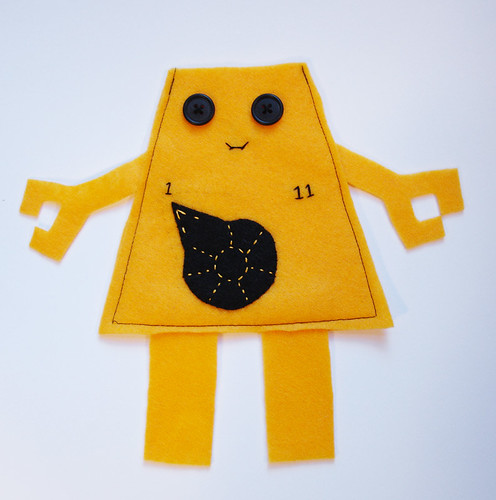 SPX Prep: Felt Robot (Yellow) | by Futuregirl_LeahRiley