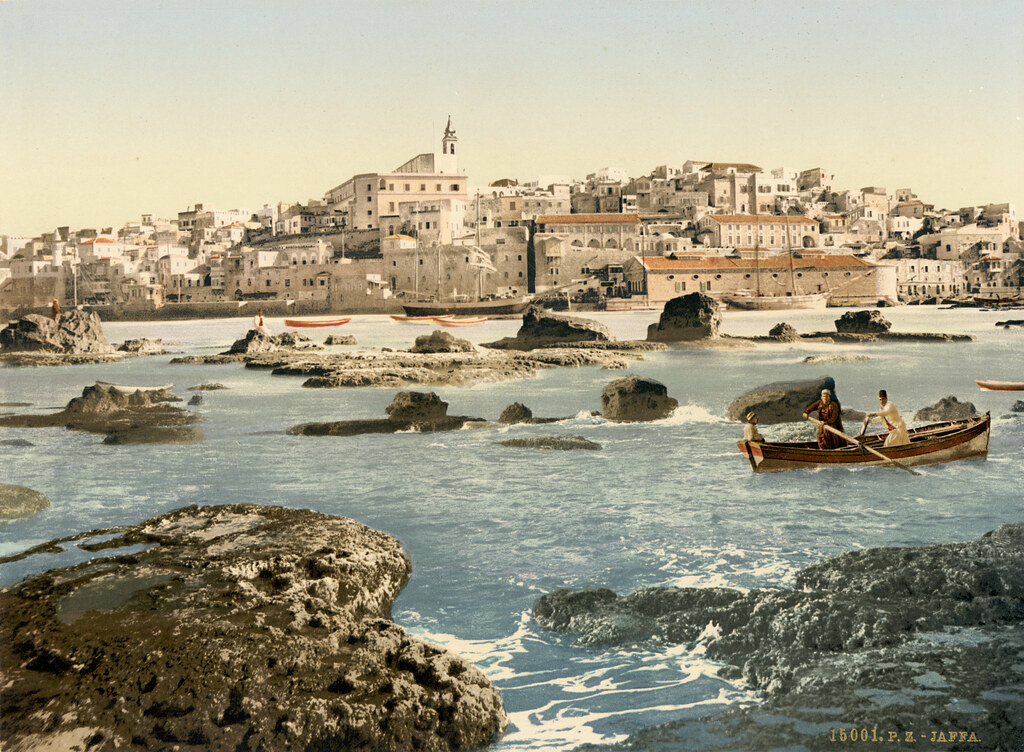 Jaffa from the sea, Holy Land, ca. 1895 | 15001 P.Z. Jaffa ...
