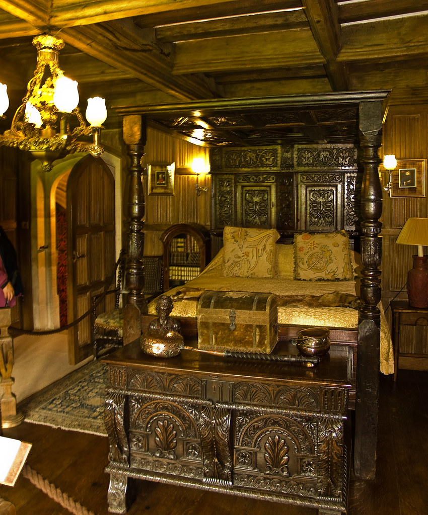 Four Poster Bed At Athelhampton House In Dorset