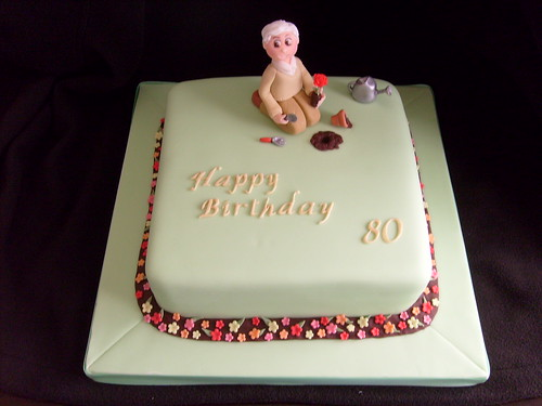 80th birthday cake flickr photo sharing for Gardening 80th birthday cake