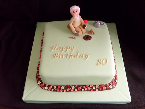 80th birthday cake flickr photo sharing for Gardening 80th birthday cake