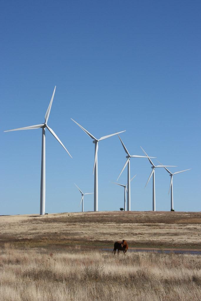 Wind Farm Near Weatherford Oklahoma  The Weatherford