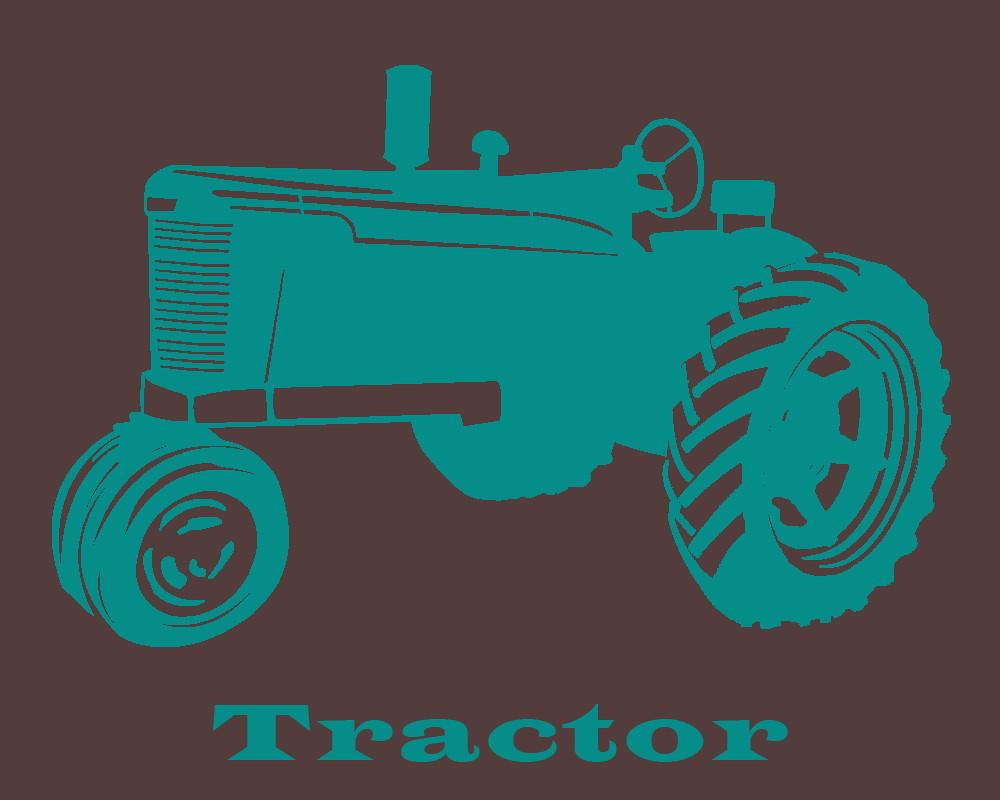 Tractor Stencil Print