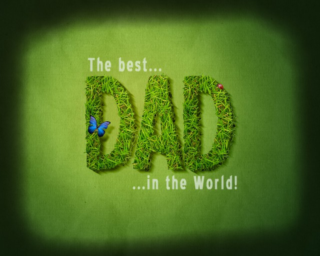 The Best Dad In The World A Fathers Day Background