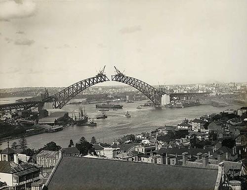 Sydney Harbour Bridge Under Construction Panel Point S E
