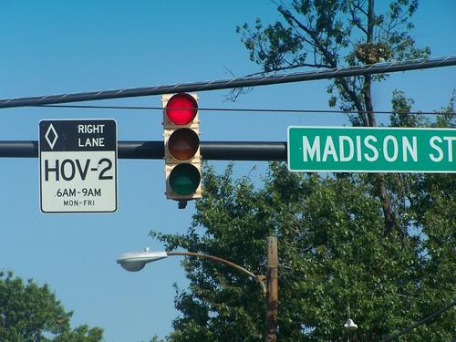 HOV-2 sign, Alexandria