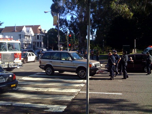 Bike / car crash at Masonic and Fell | by xchoi