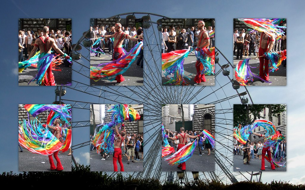 collage gay pride paris 2008 sur fond de grande roue du ja flickr. Black Bedroom Furniture Sets. Home Design Ideas