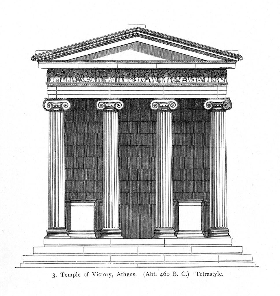 Acropolis  Temple Of Athena Nike  Reconstruction Rendering U2026