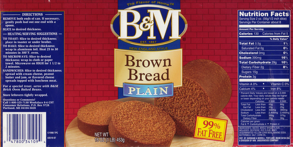 Canned bread, from Maine | I was pretty sure I had saved ...