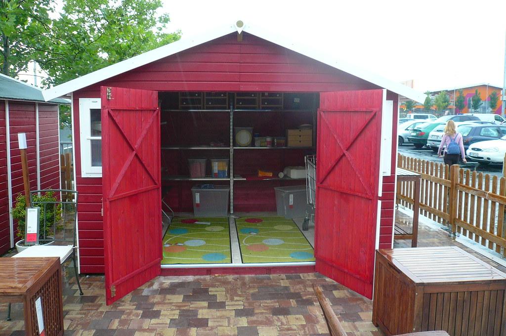 gartenhaus ikea 1070408 garden shed on ikea compund kalba flickr. Black Bedroom Furniture Sets. Home Design Ideas
