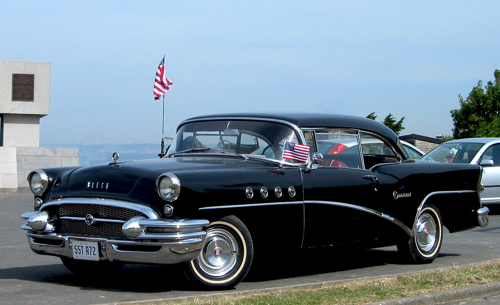 Black 1955 buick century 2 door hardtop from maine flickr for 1955 buick century 4 door hardtop