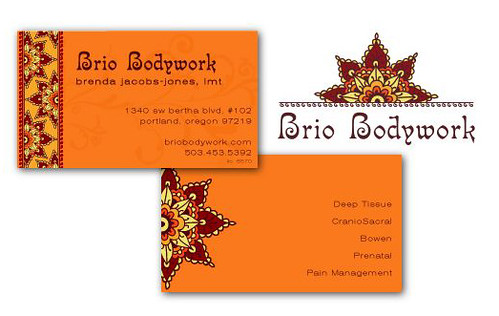 brio bodywork branding a logo and business card package