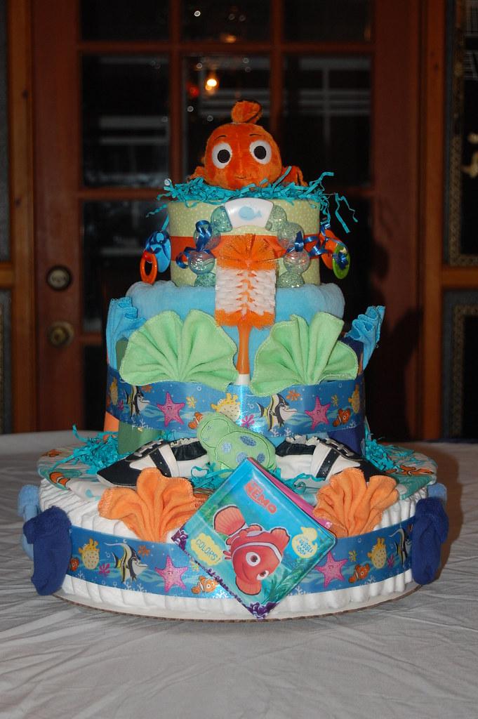 Finding Nemo Diaper Cake Ingredients 63 Pampers
