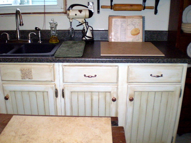 handpainted faux finished kitchen cabinets by thepainterlady - Faux Kitchen Cabinets