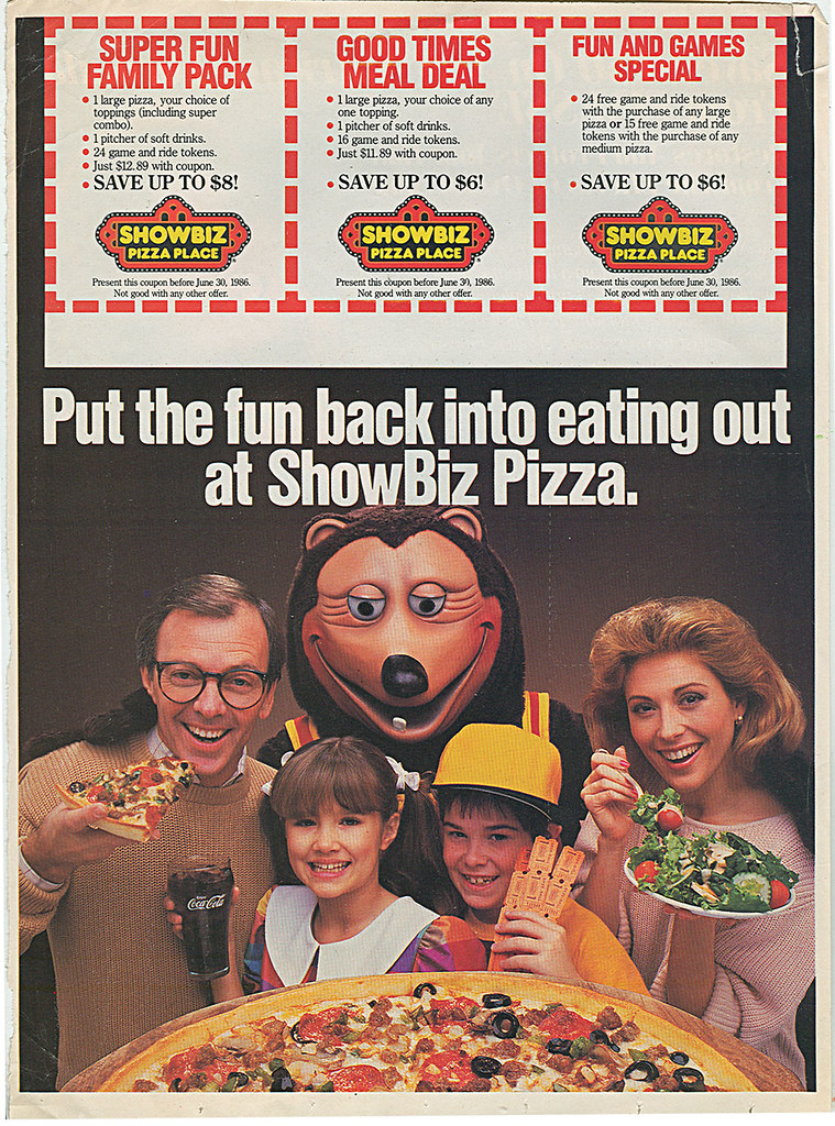 Showbiz Pizza Place Quot Put The Fun Back Into Eating Out A