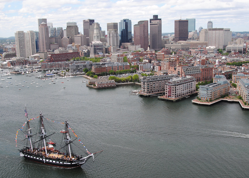 USS Constitution sails into Boston Harbor | BOSTON HARBOR ...