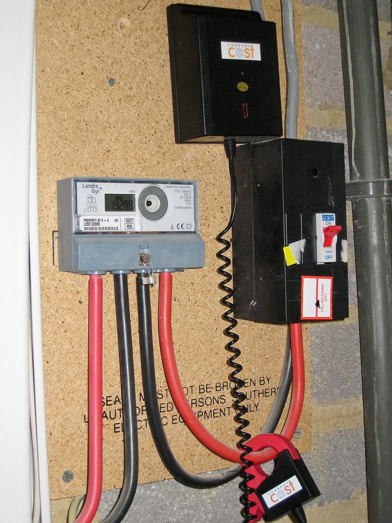 Current cost meter the current cost meter set up on our for Kitchen set 2 meter