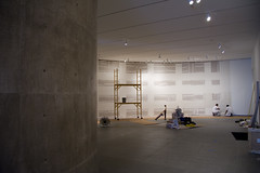 Construction of galleries for Kara Walker | by The Modern