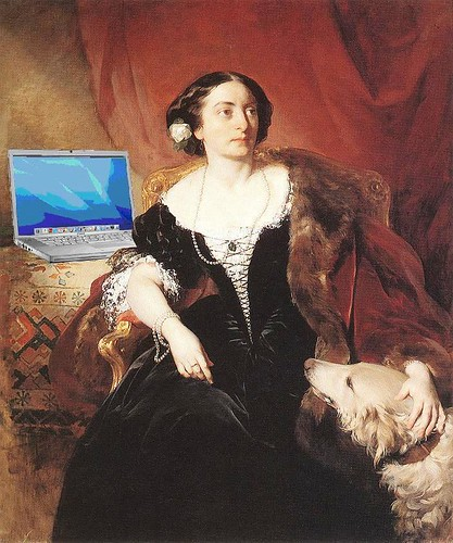 Countess Nákó blogging, after Friedrich von Amerling | by Mike Licht, NotionsCapital.com