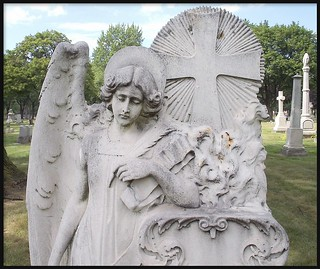 Mount Elliott Cemetery: Angel Statue (Alternate Version), Galvin Memorial--Detroit MI | by pinehurst19475