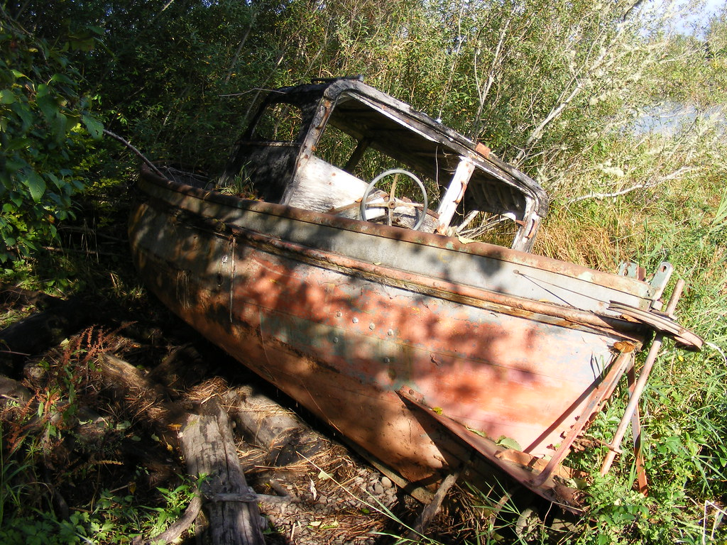 Wrecking Yards In Oregon : Salvage yard bound abandoned in the alderbrook