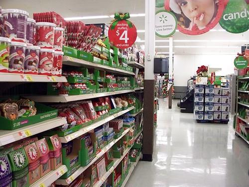 Christmas Aisle At Wal Mart Yep Himynameisash Flickr