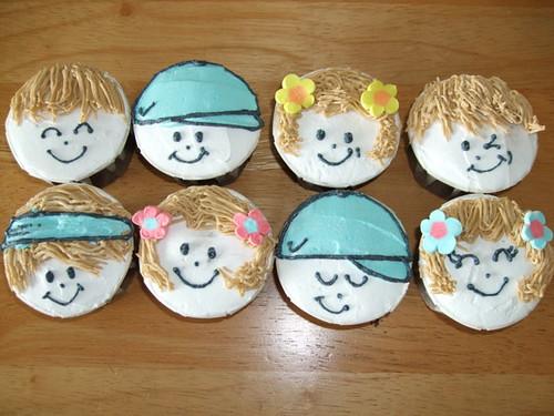 Cupcake Faces Faces Theme Cupcakes | by