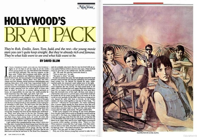 Brat Pack Magazine Article See Google Book Search Puts