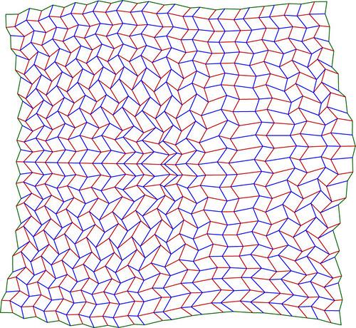 Distorted Miura Ori Crease Pattern Of Distorted Miura