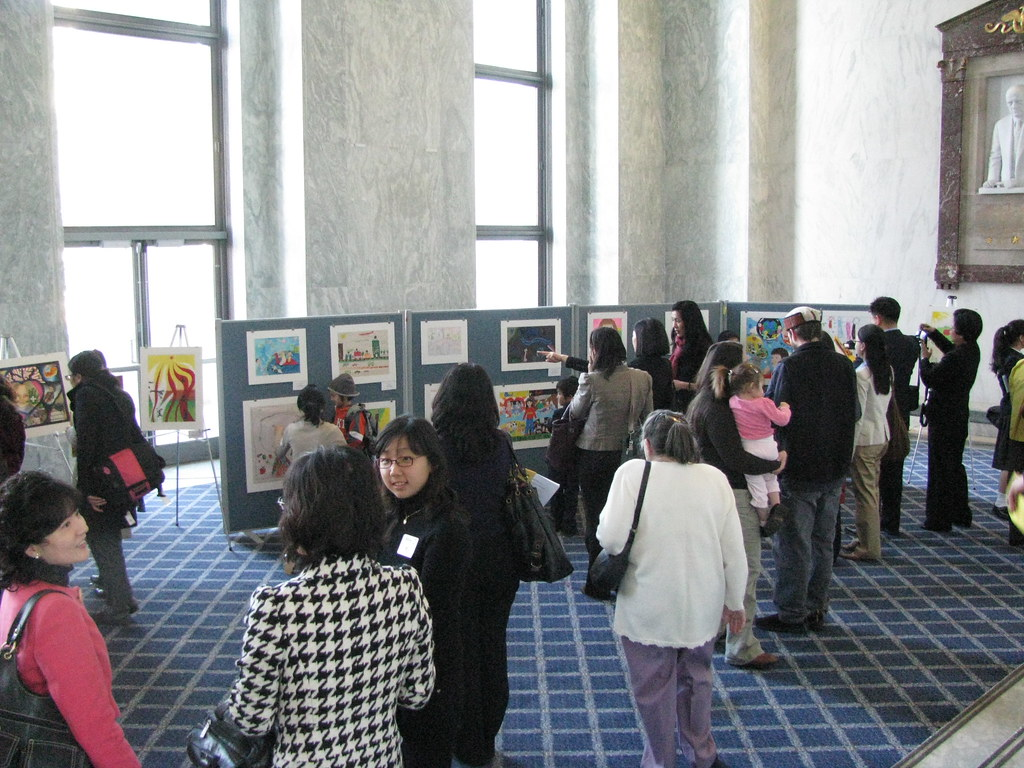 Foyer Office Vacancies : Art exhibit at rayburn house office building first floor