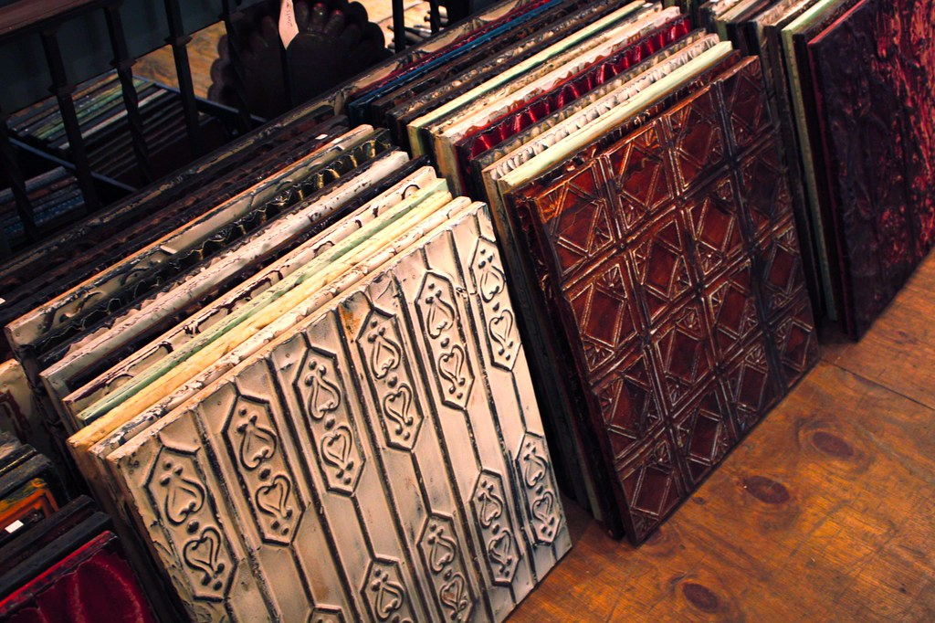 Tin ceiling tiles an architectural salvage shop in nyc for Architectural salvage nyc