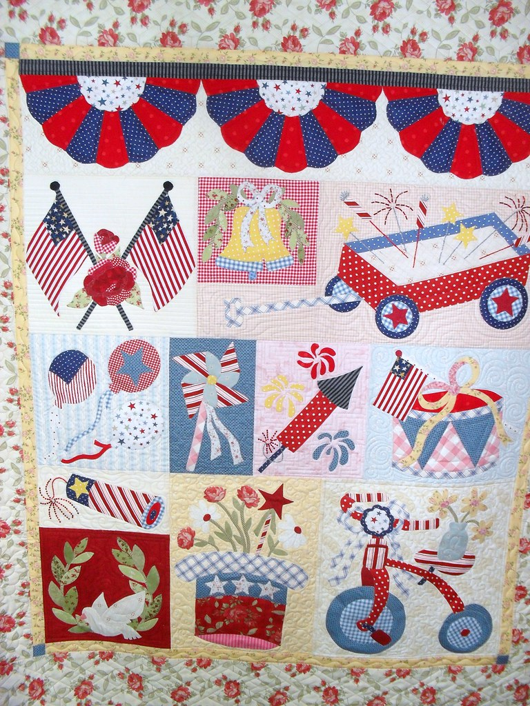 4th Of July Pieced By Audrey Hill Quilted By Jessica S