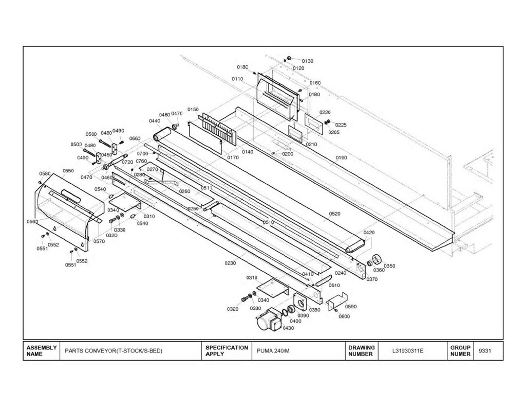 240 conveyor diagram
