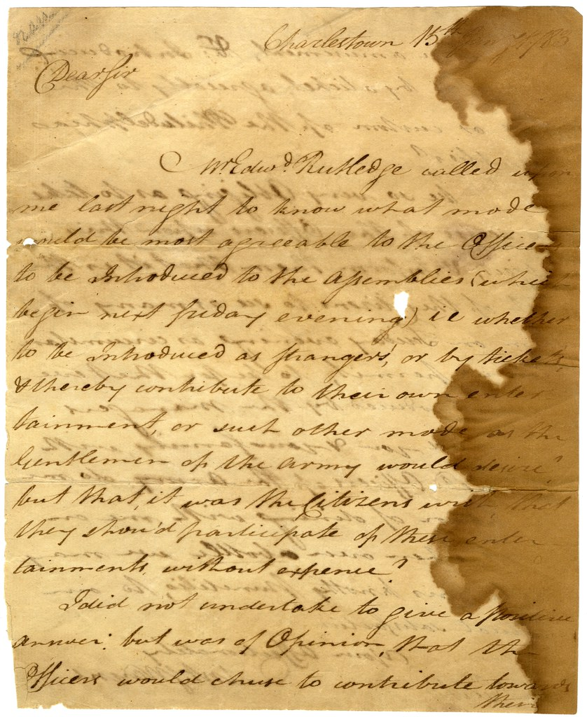 Letter From Anthony Wayne To Mordecai Gist Page 1 Of 3