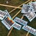 Signs for destroyed Darfur villages